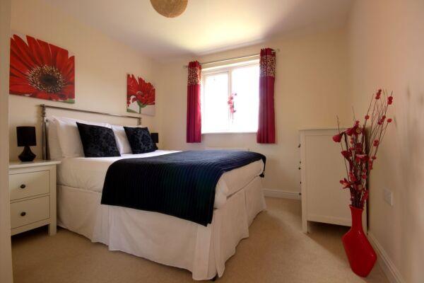 Bedroom, Osprey Avenue Serviced Apartments, Bracknell