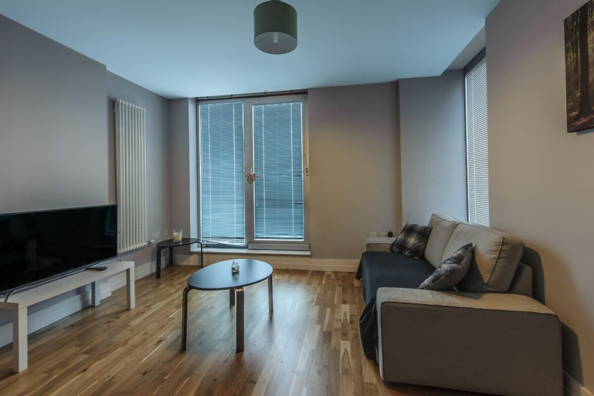 Living Area, Arcus Serviced Apartment, Leicester