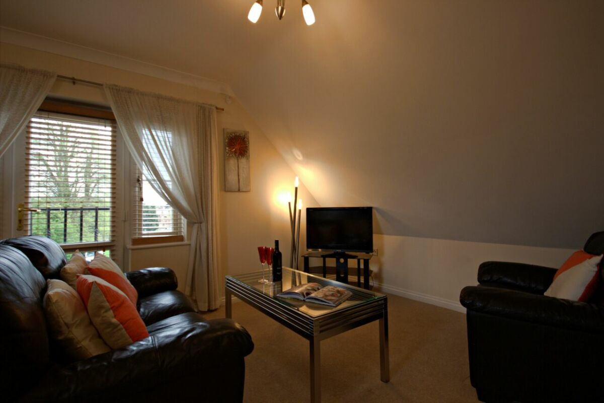 Living Area, Spring House Serviced Apartments, Basingstoke