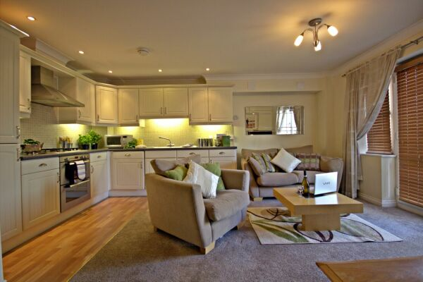 Kitchen/Living Area, Spring House Serviced Apartments, Basingstoke