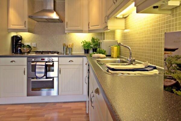 Kitchen, Spring House Serviced Apartments, Basingstoke