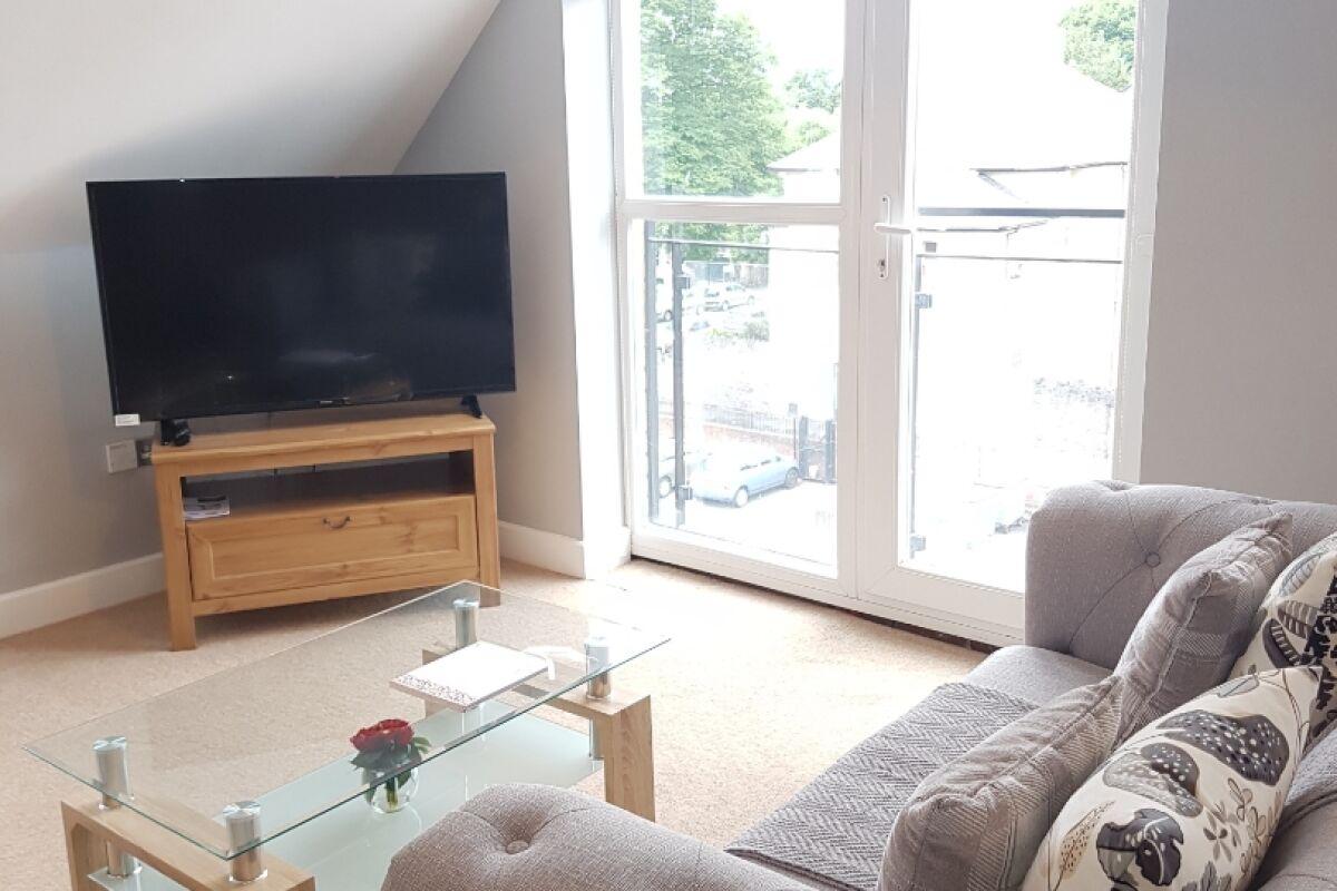 Living Area, Newport Road Serviced Apartments, Cardiff