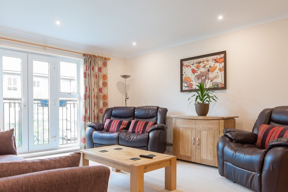Living Area, Longworth Avenue Serviced Apartments, Cambridge