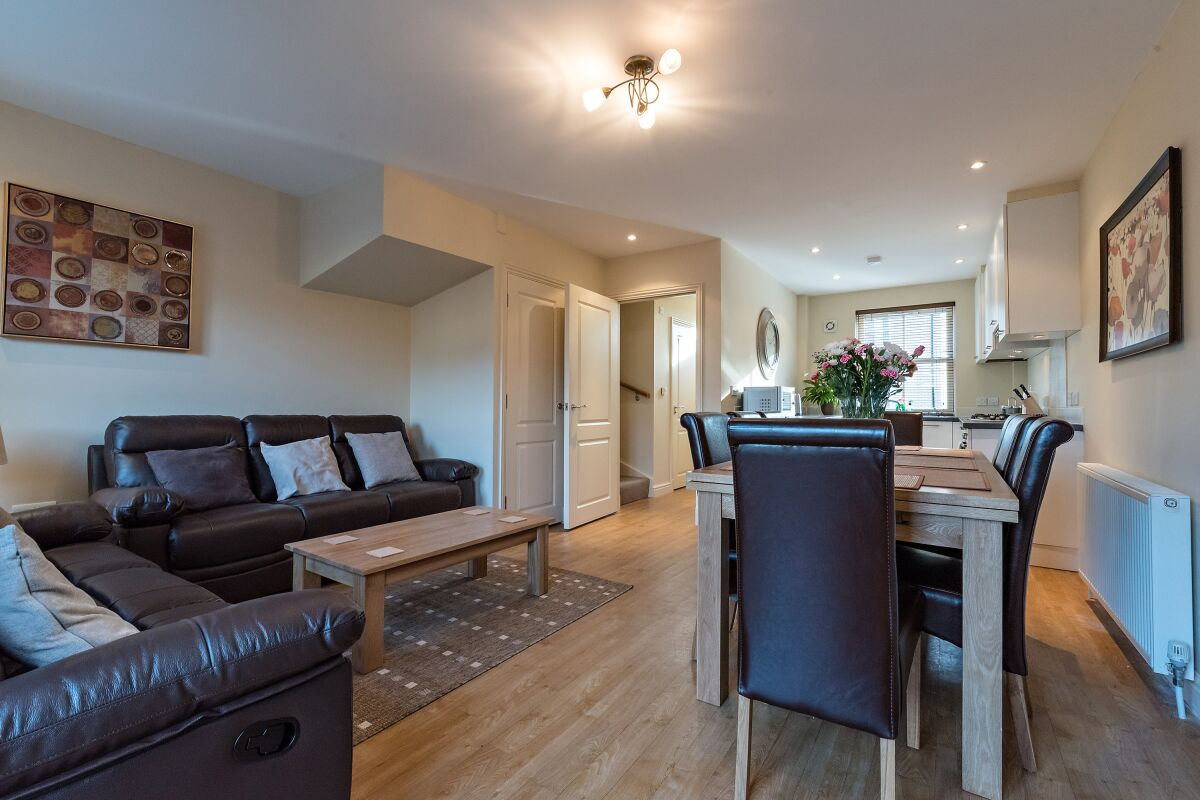 Living Area, New Street House Serviced Accommodation, Cambridge