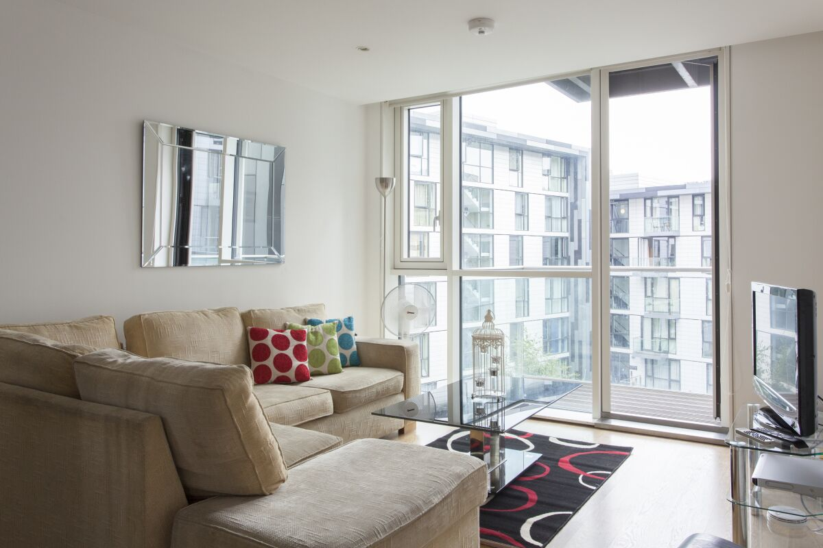 Living Room, Times Square Serviced Apartments, Aldgate, The City of London