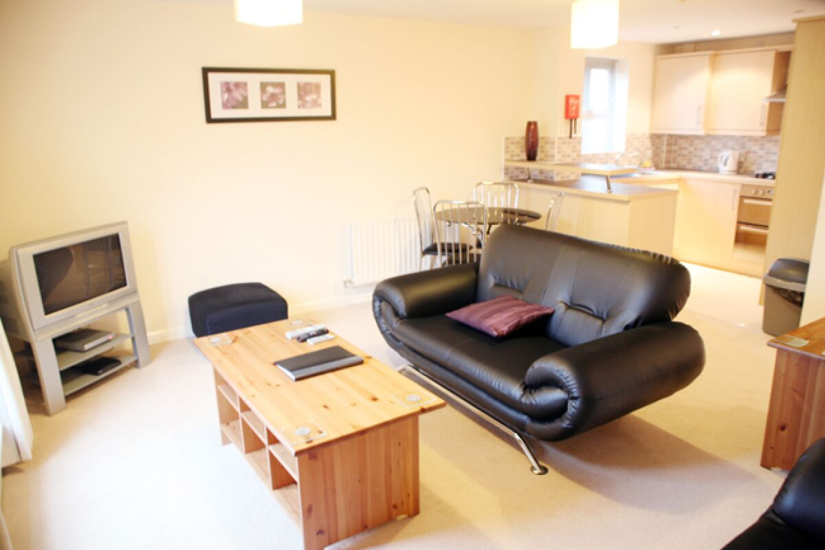 Lounge Area, Brunel Crescent Serviced Apartments, Swindon