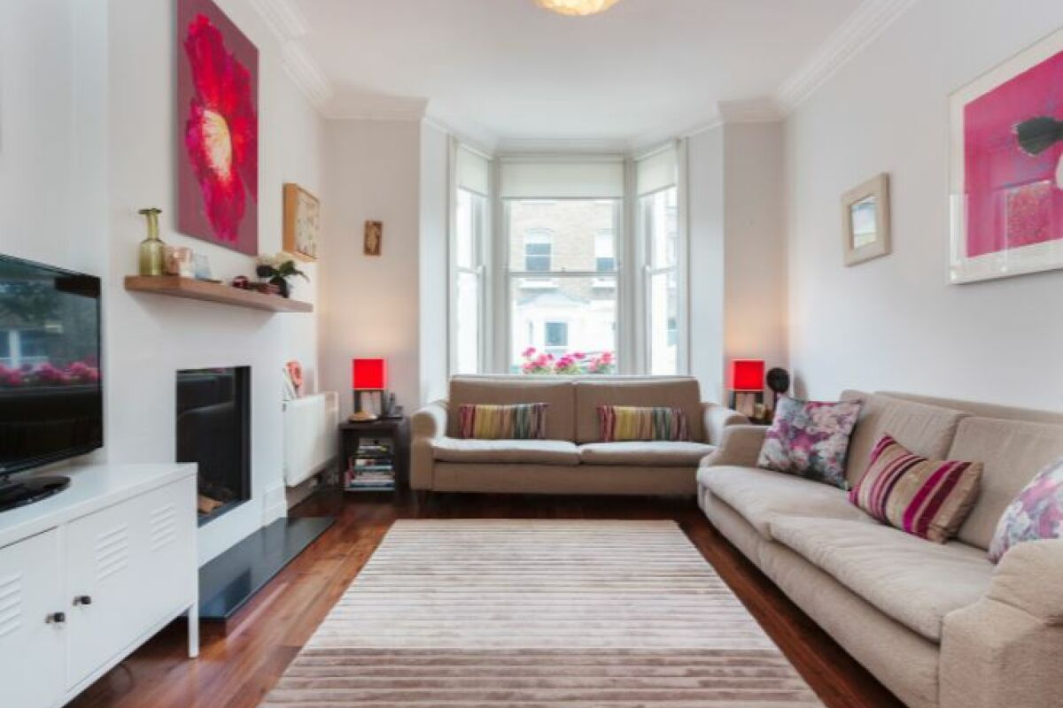 Living Area, Woodsome Road Serviced Apartments, Highgate, London