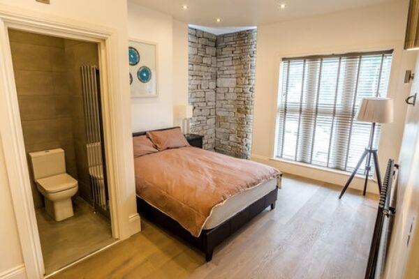 Bedroom, Portland Street Serviced Apartments, Huddersfield