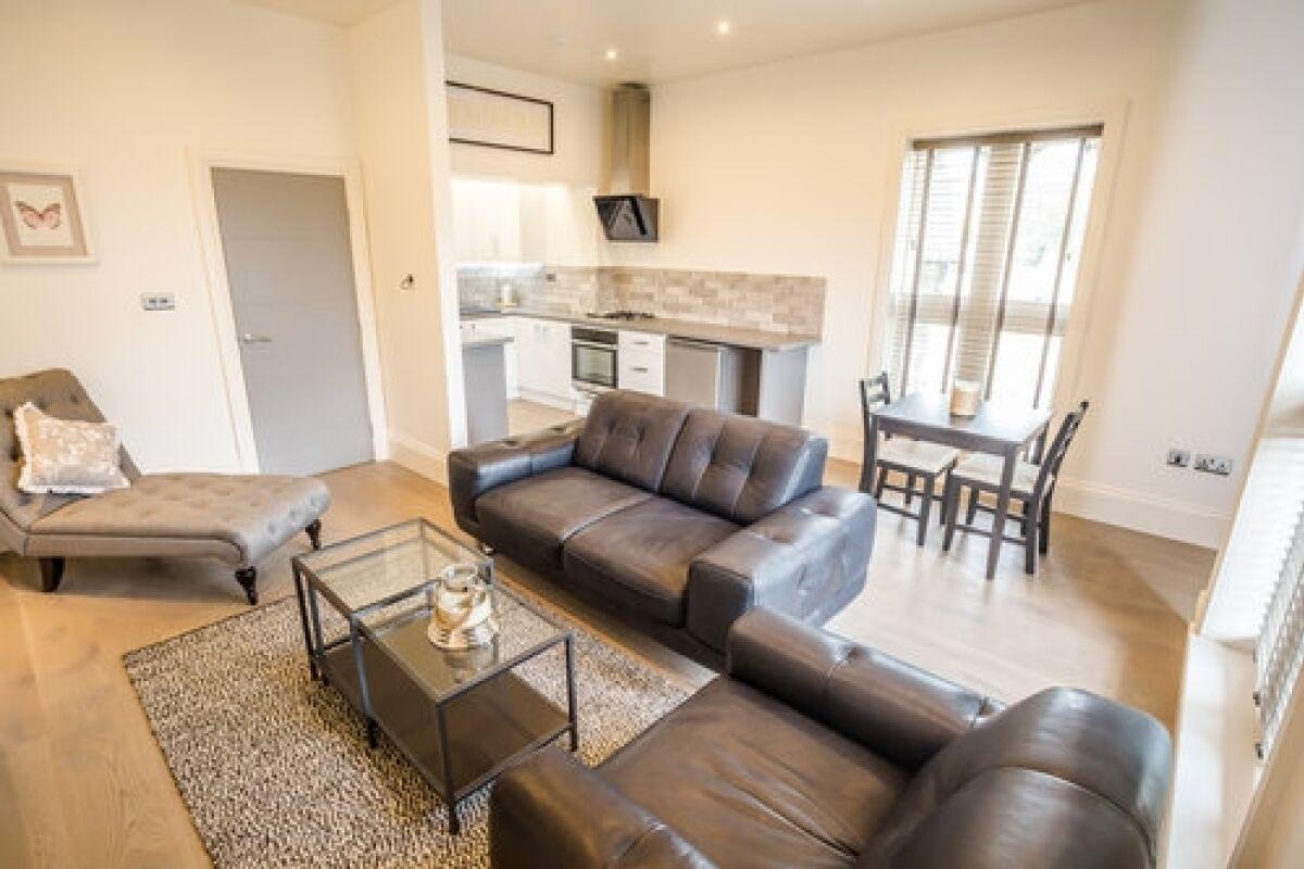Living Area, Portland Street Serviced Apartments, Huddersfield