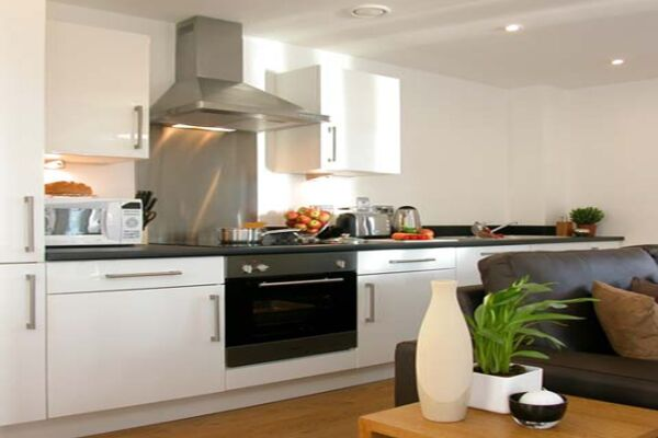 Kitchen and Living Area, Paradise Street Serviced Apartments, Liverpool