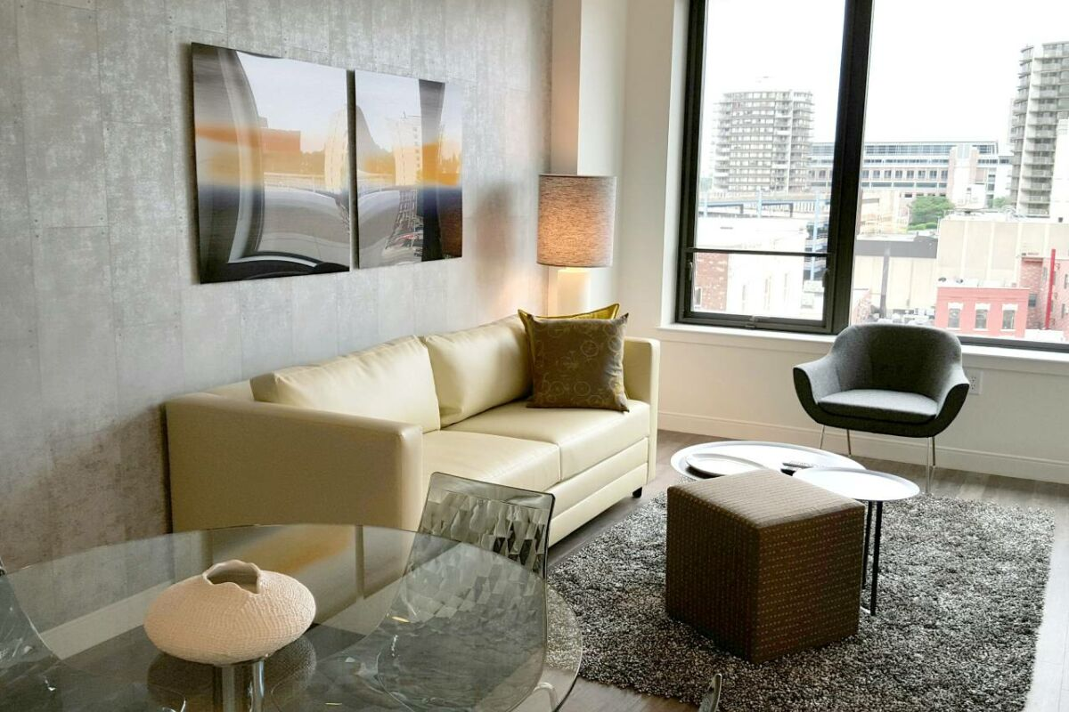Living Area, Summer Street Serviced Apartments, Stamford