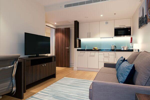 Living Area, Westminster Bridge Serviced Apartments, Waterloo, London
