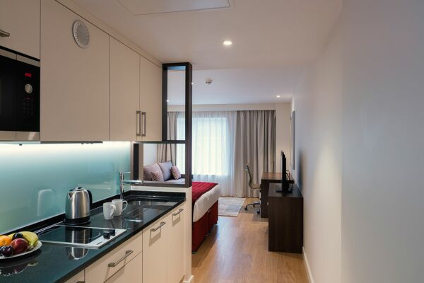 Kitchen, Westminster Bridge Serviced Apartments, Waterloo, London