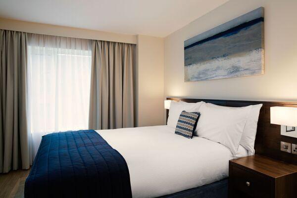 Bedroom, Westminster Bridge Serviced Apartments, Waterloo, London
