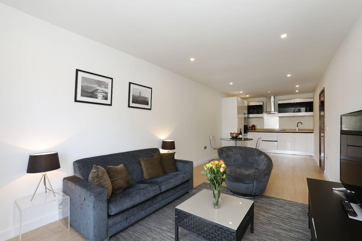 Living Area, Newgate Serviced Apartments, Croydon, London